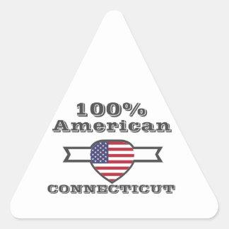 100% American, Connecticut Triangle Sticker