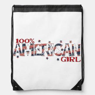 100 American Girl Girly Women s Patriotic Cinch Bags