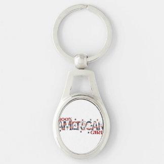 100 % American Girl Girly Women's Patriotic Keychain