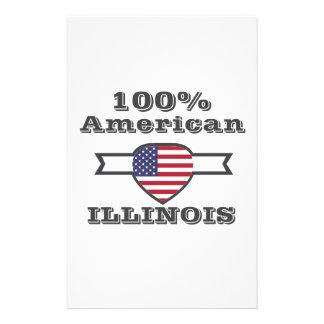 100% American, Illinois Stationery