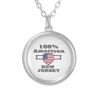 100% American, New Jersey Silver Plated Necklace