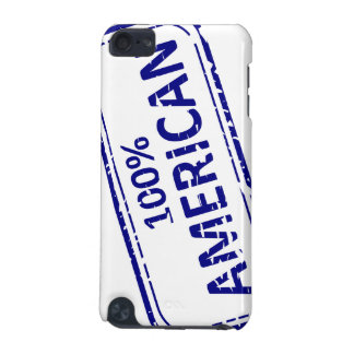 100% AMERICAN Rubber-stamp blue on white iPod Touch (5th Generation) Cover