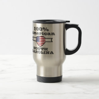 100% American, South Carolina Travel Mug