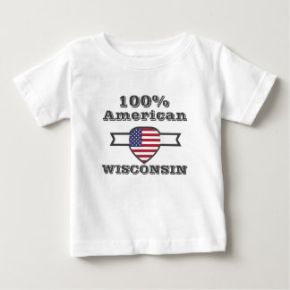 100% American, Wisconsin Baby T-Shirt