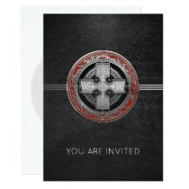 [100] Ancient Celtic Sacred Silver Knot Cross Invitation