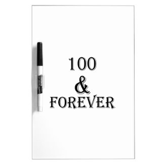 100 And Forever Birthday Designs Dry Erase Board