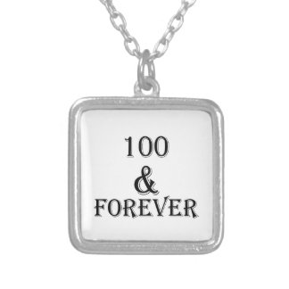 100 And Forever Birthday Designs Silver Plated Necklace