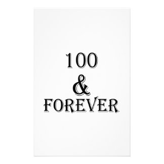 100 And Forever Birthday Designs Stationery
