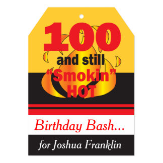 100 and Still Smokin Hot | 100th Birthday Card