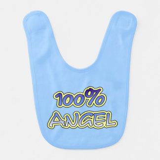 100% angel baby bib