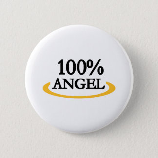 100% Angel Pinback Button