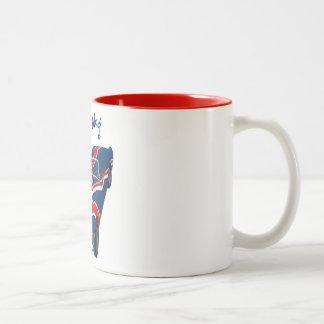 100% anloge Two-Tone coffee mug