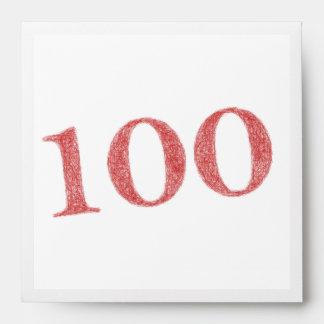 100 años de aniversario sobres