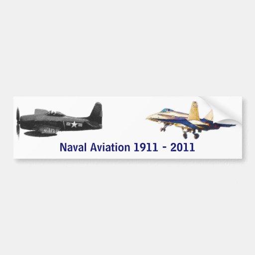 100 años de aviación naval pegatina para auto