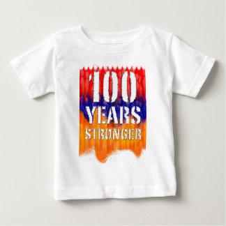 100 años de camiseta infantil armenia más fuerte remeras