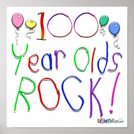 ¡100 años de la roca! póster
