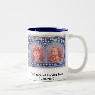 100 años de la taza azul de Reckitt