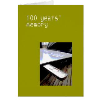 100 años de tarjeta