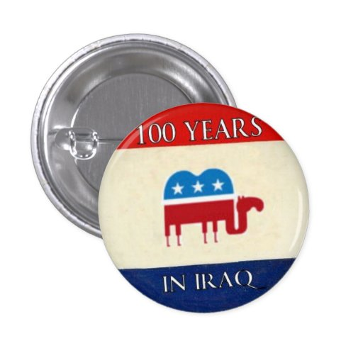 100 años en el botón de Iraq Pin Redondo De 1 Pulgada
