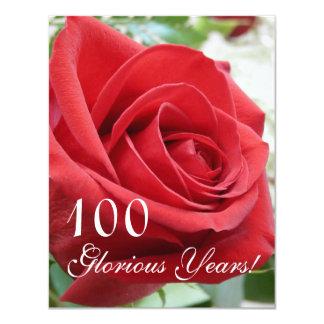"""¡100 años gloriosos! - Celebración del Invitación 4.25"""" X 5.5"""""""