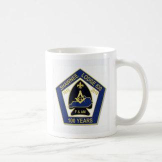 100 años taza básica blanca