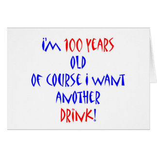 100 another drink greeting card