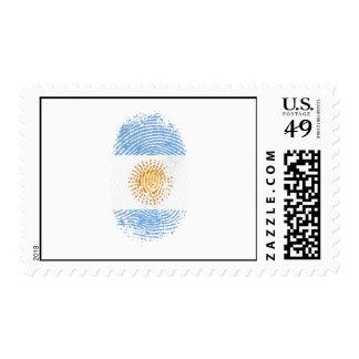100% Argentinian DNA fingerprint Argentina flag gi Stamp