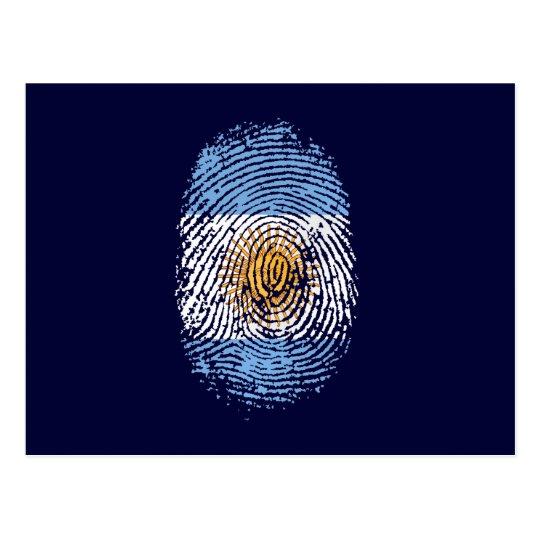 100% Argentinian DNA fingerprint Argentina flag gi Postcard