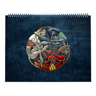 100 Arte sagrado del Celtic - tres perros Calendario De Pared