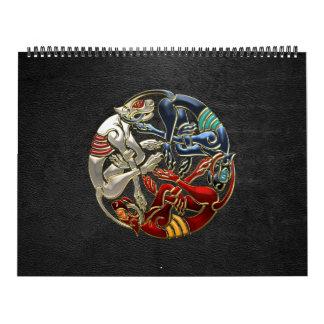 100 Arte sagrado del Celtic - tres perros Calendarios