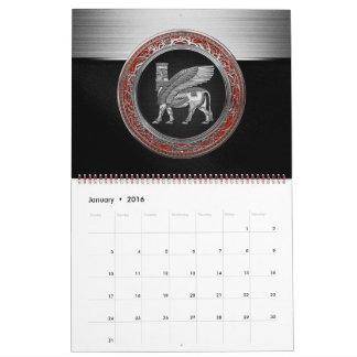[100] Assyrian Winged Bull - Silver Lamassu Calendar