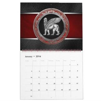 [100] Assyrian Winged Lion - Silver Lamassu Calendar