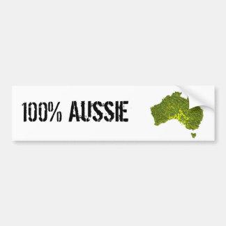 100% Aussie Bumper Sticker Car Bumper Sticker