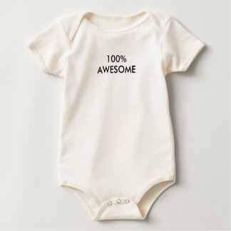 100% AWESOME Baby One Piece Baby Bodysuit