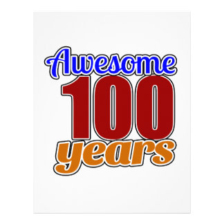 100 Awesome Birthday Letterhead