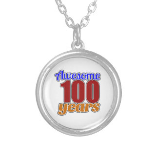 100 Awesome Birthday Round Pendant Necklace