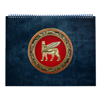 [100] Babylonian Winged Bull [Gold] [3D] Calendar