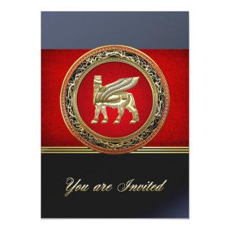 [100] Babylonian Winged Bull Lamassu [3D] Card