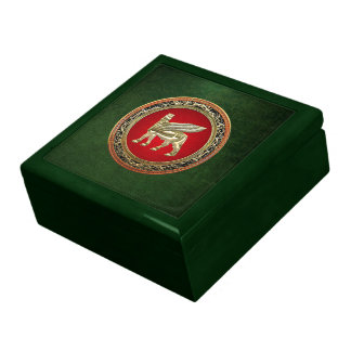 [100] Babylonian Winged Bull Lamassu [3D] Jewelry Box