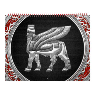 [100] Babylonian Winged Bull [Silver] [3D] Calendar
