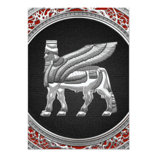 [100] Babylonian Winged Bull [Silver] [3D] Card