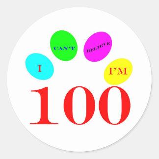 100 Balloons Round Sticker