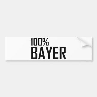 100% Bayer Car Bumper Sticker