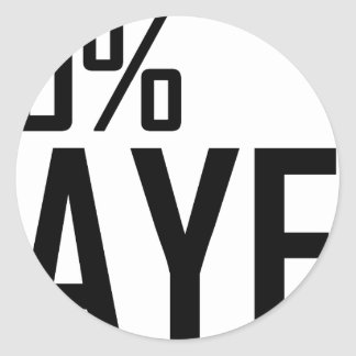 100% Bayer Classic Round Sticker
