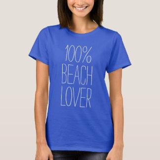 100% Beach Lover Ladies Shirt