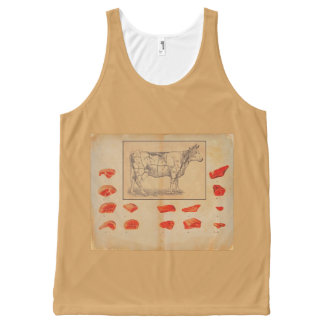 100% beef All-Over-Print tank top