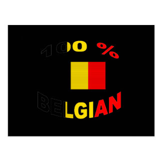 100 % Belgian Postcard