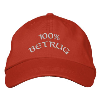 100% Betrug Embroidered Baseball Cap