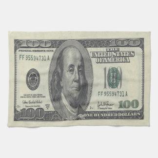 $100 Bill Kitchen Towel