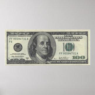 $100 Bill Poster